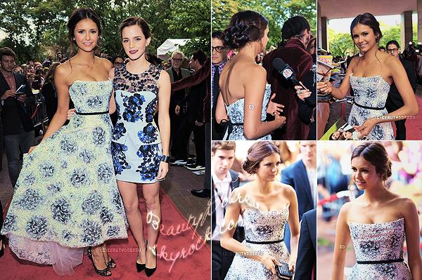 """Appearance    8 Septembre 2012 > Nina était à l'avant première du film """"The Perks of Beings a Wallflower"""" où elle apparaît, à Toronto"""