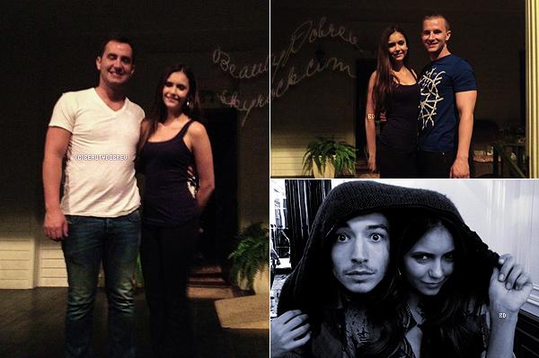 The Vampire Diaries & Divers |  14 Septembre 2012 > Trois nouvelles photos provenant de twitter dont deux sur le set de TVD puis, l'autre avec Ezra Miller