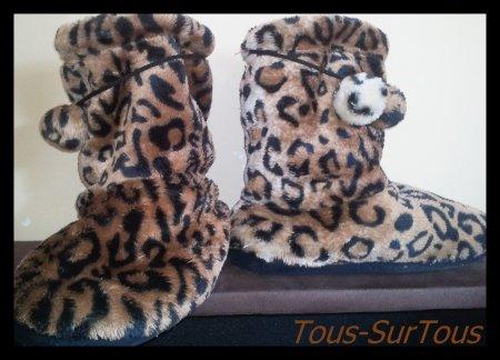 Article N°1 : Vêtement - Chaussons léopard