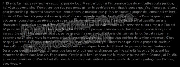 20.03.2012 « Demi Lovato - Une lettre pour mes fans à propos de Give your heart a break. »