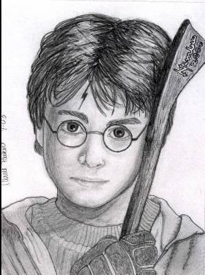 Harry dessin harry potter et le prince de sang mele et - Dessin harry potter facile ...
