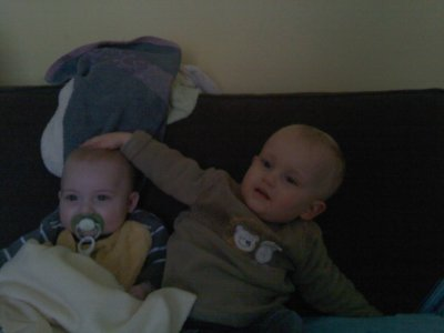 mes deux bebe je vous aime