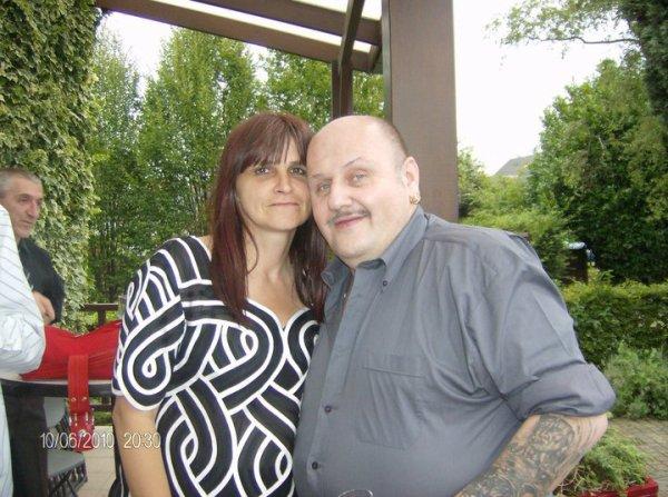 ma meilleur amie mariane a qui je peut tout dire et son mari louis