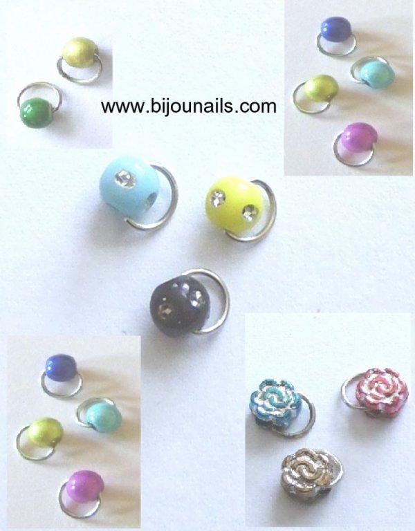 Lots piercings d'ongle www.bijounails.com