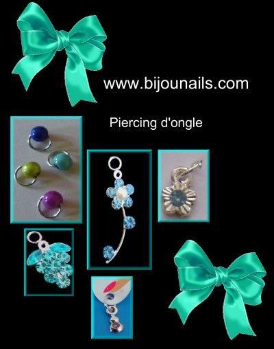 Piercings d'ongle , divers modèles www.bijounails.com