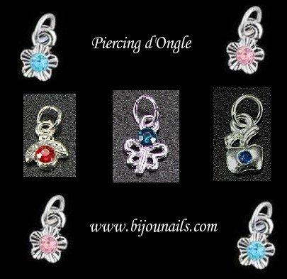 Piercing d'ongle , divers modèles www.bijounails.com