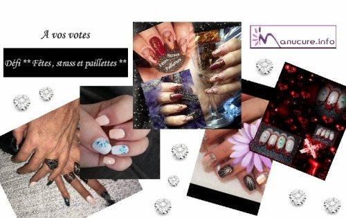 A VOS VOTES , Défi ** Fêtes , strass , paillettes ** Forum Manucure.info