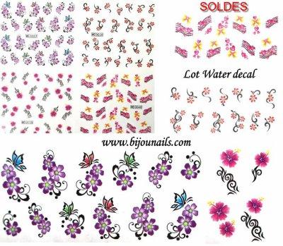 Soldes lot water decal www.bijounails.com
