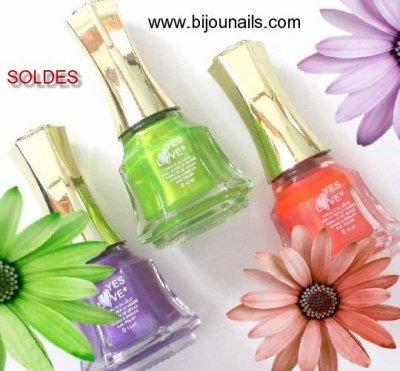 Encore + de soldes , lot 3 vernis à ongles Flashy www.bijounails.com