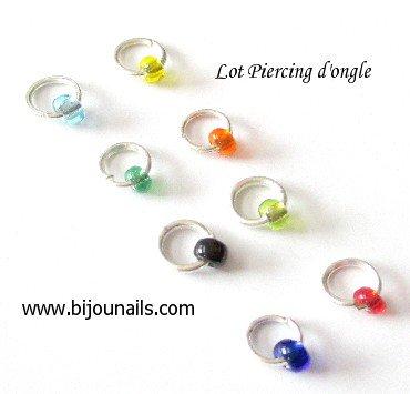 LOT PIERCING D'ONGLE www.bijounails.com