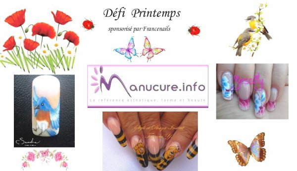 """Défi """" Printemps """" sponsorisé par Francenails - Forum Manucure.info"""