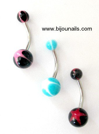 PIERCING NOMBRIL , divers modèles www.bijounails.com