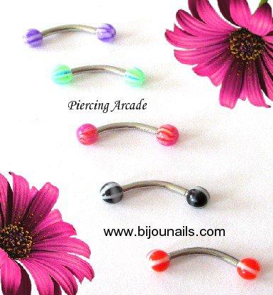 PIERCING ARCADE , divers modèles www.bijounails.com