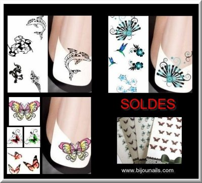 Soldes , Stickers , autocollant www.bijounails.com