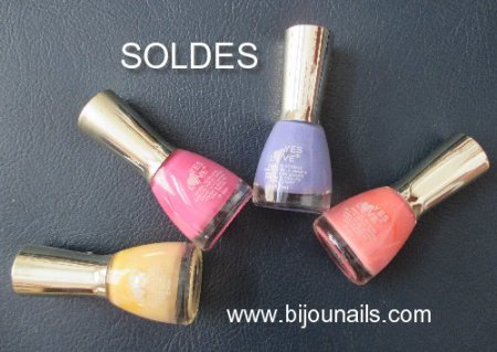 LOT VERNIS A ONGLES YES LOVE  , SOLDES www.bijounails.com