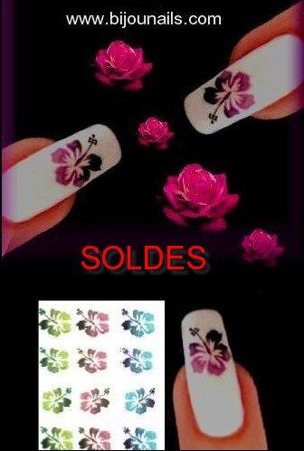 SOLDES , lot stickers fleurs www.bijounails.com