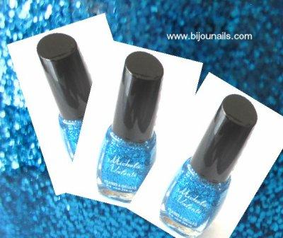 Vernis à ongles paillettes , Michela Valenti www.bijounails.com