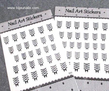 Stickers corset www.bijounails.com