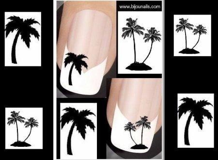 Lot stickers palmiers www.bijounails.com