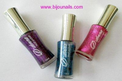 Nouveauté , lot 3 vernis à ongles paillettes D'Donna www.bijounails.com