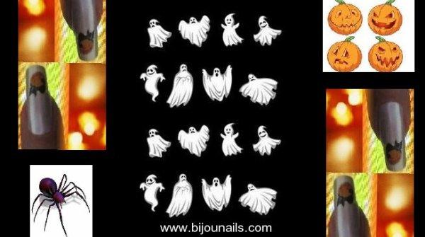 Bientôt Halloween , stickers www.bijounails.com