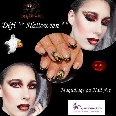 Défi HALLOWEEN , Nail Art , Maquillage sur le Forum Manucure.info