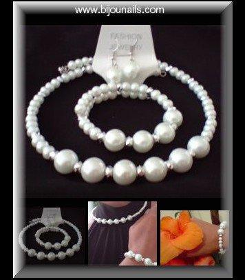 Parure perles www.bijounails.com