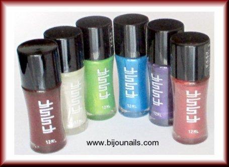 Nouveauté , lot 6 vernis à ongles YSSY www.bijounails.com
