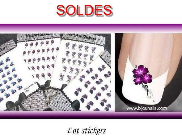 Lot stickers , SOLDES www.bijounails.com