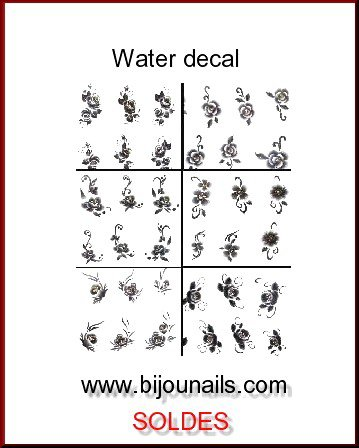 LOT WATER DECAL , SOLDES