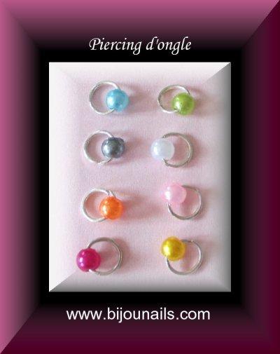 Nouveauté , lot 8 piercings d'ongle www.bijounails.com