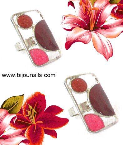 Bague fantaisie , réglable , divers coloris www.bijounails.com