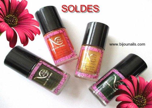 Vernis à ongles , lot , effet craquelé , SOLDES www.bijounails.com