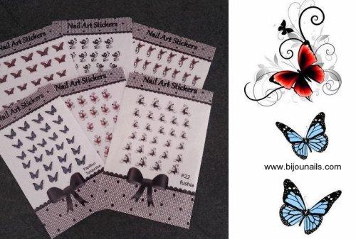 Nouveauté , lot 6 stickers www.bijounails.com