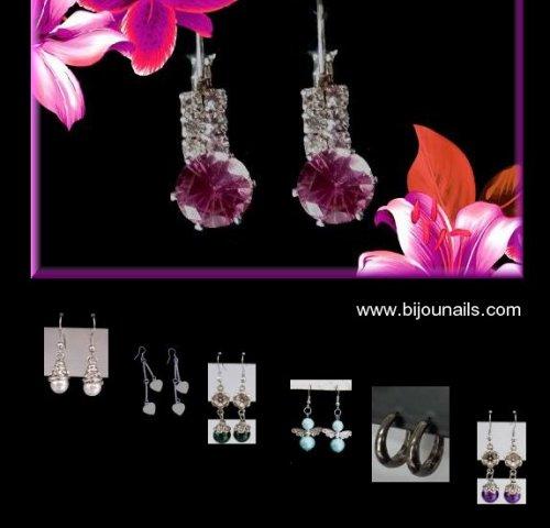 Boucles d'oreilles , divers modèles , idées cadeau www.bijounails.com