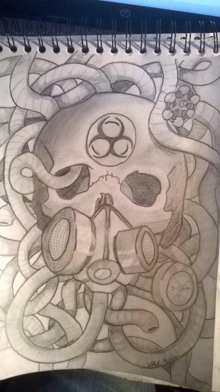 biohazard skull
