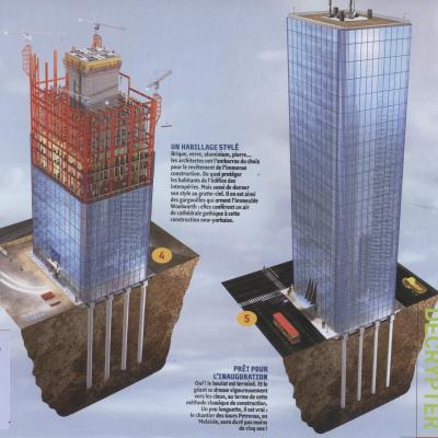 Les tapes de construction d 39 un gratte ciel tpe les mat riaux biologiq - Construction gratte ciel ...