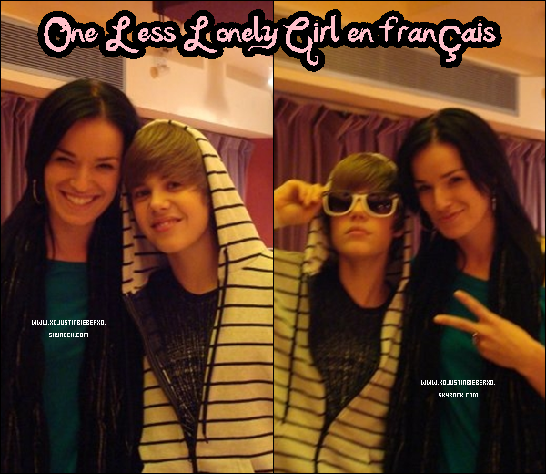 . En Studio pour Enregistrement de One Less Lonely Girl en français.