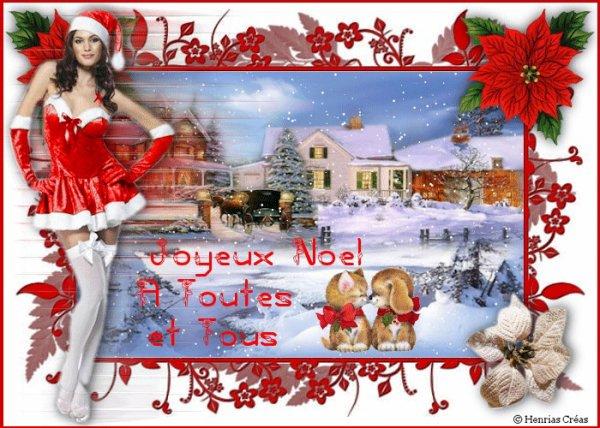 bonjour tout le monde et joyeux Noël