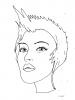 COLORIAGE    FILLE  COIFFURE