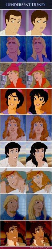 ~Disney:les hommes en femmes!~