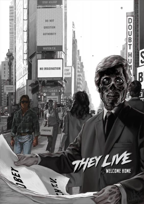 Invasion Los Angeles ; réalisé par John Carpenter