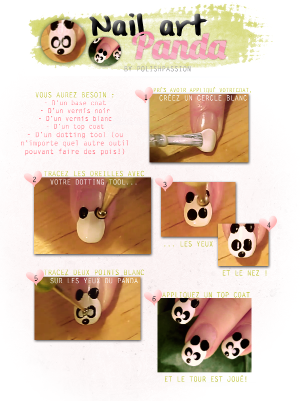 Nail art panda by CUTEPOLISH
