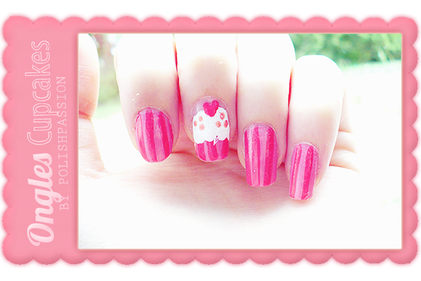 ongles cupcakes