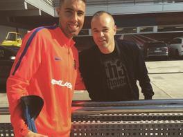 Andres Iniesta et un fan