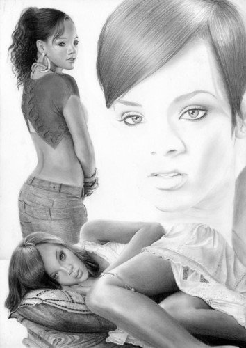 Rihanna dessins de daniel - Visage profil dessin ...