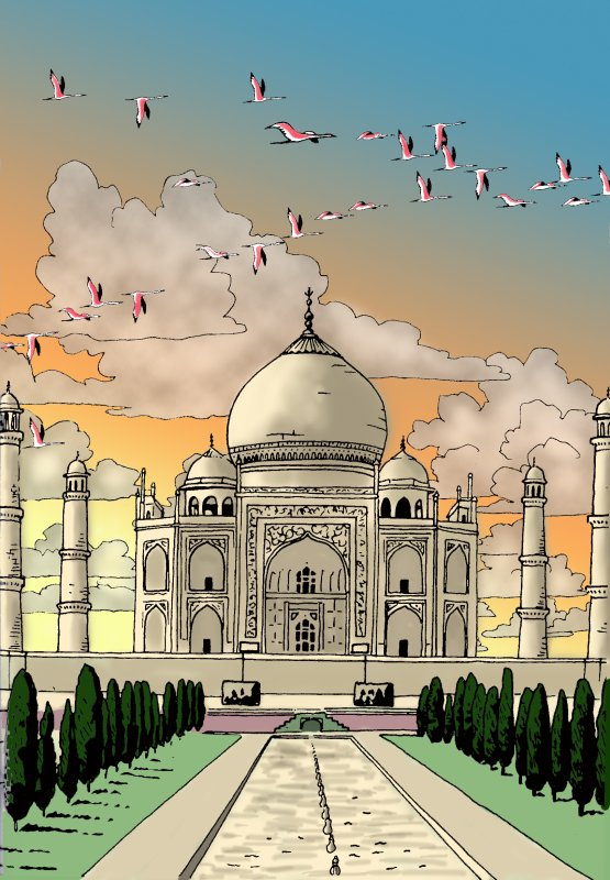 Colorisation Taj Mahal