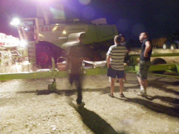 moisson 2013 casse croute sous les projecteurs