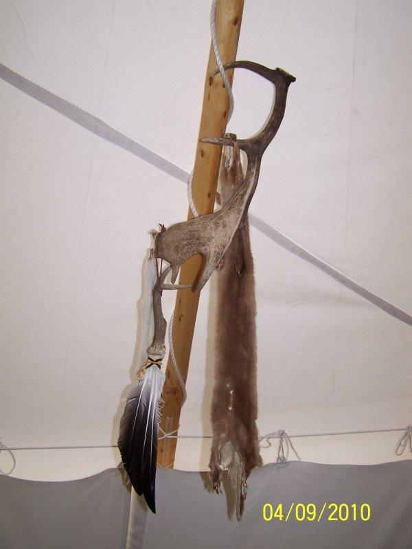 évent rammener de mon voyage au canada ,fait un véritable artisant sioux