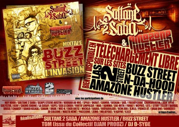 mixtape buzz street l invasion(sultan2saba) / bas de textes (2012)